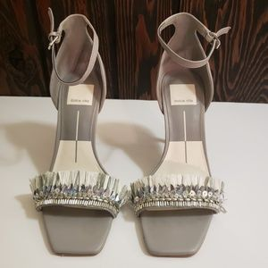 Dolce Vita Embellished Heels with Ankle Strap 6.5